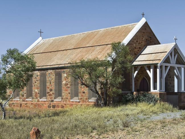 Holy Trinity Church, one of the historic buildings in the former gold rush town of Roebourne, Western Australia, which is gripped by child sexual abuse.