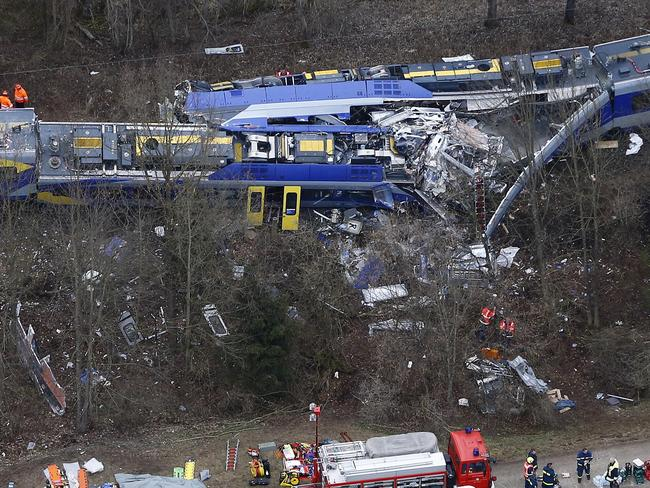 Tragic ... scores of people have been injured in the horrific crash in Germany. Picture: AP Photo/Matthias Schrader