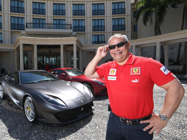 Gold Coast Mayor Tom Tate, pictured with his Ferrari, was the subject of a Four Corners investigation into developer donations. Picture: Glenn Hampson