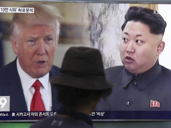 Mr Trump wouldn't say if he had communicated with Kim Jong Un. Picture: Ahn Young-joon/AP