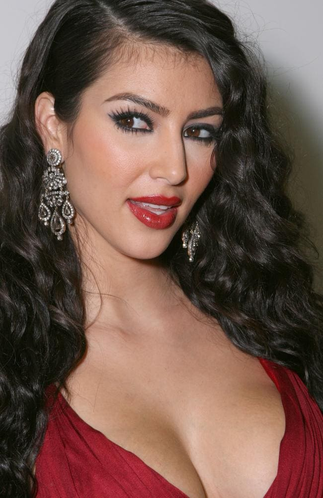 She's red-y. Kim Kardashian, pictured in 2007. Picture: Getty Images
