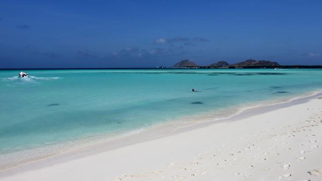 Madrizqui beach, one of the islands of Los Roques Archipelago in Venezuela. Picture: AFP