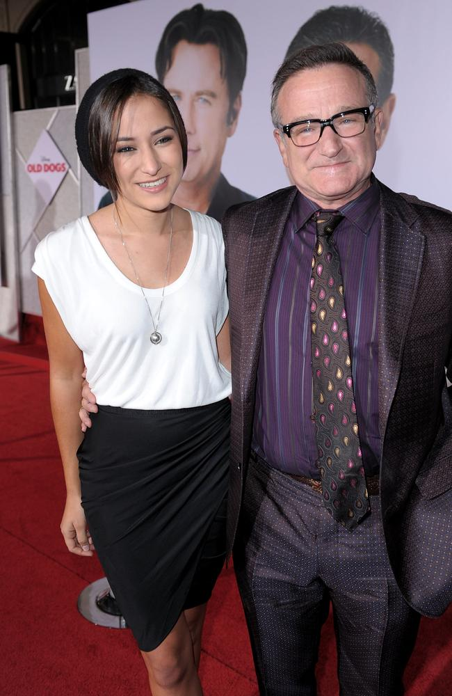 "Robin Williams and daughter Zelda arrive at the premiere of Walt Disney Pictures' ""Old Dogs"" in 2009. Picture: Getty Images"
