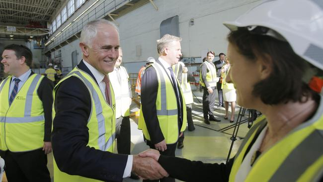 Prime Minister Malcolm Turnbull went to Launceston to talk energy. Picture: Matt Thompson