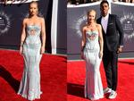 Iggy Azalea and boyfriend Nick Young attend the 2014 Video Music Awards, the VMAs. Picture: Getty