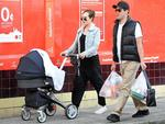 <p>Jess Marais and James Stewart seem to be taking parenthood in their stride as they step out for an afternoon stroll in Newtown with baby Scout. Picture: Snapperemdia</p>  <br />
