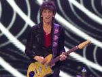 Ronnie Wood performs at the O2 arena in east London, to celebrate the Rolling Stones' 50th anniversary. Picture: AP
