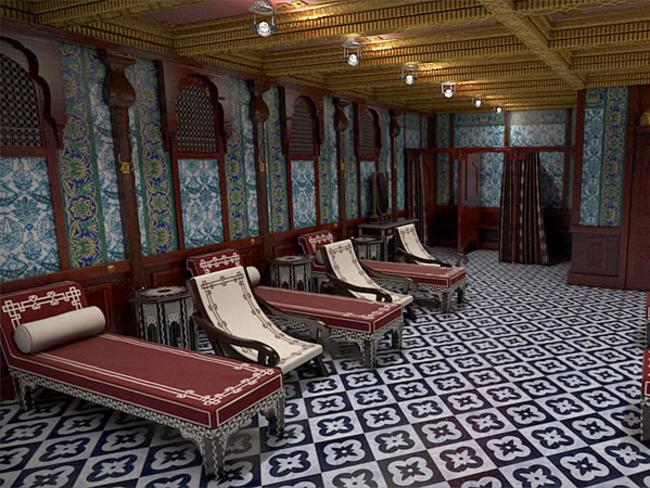 Turkish baths on Titanic II. Picture: Bluestarline.com.au