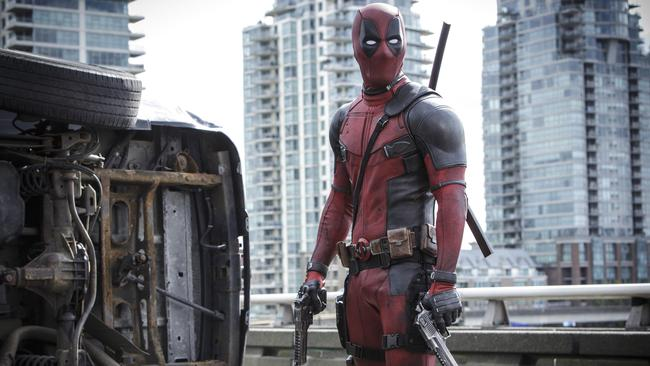 New action flick Deadpool is already widely available to online pirates. Picture: Joe Lederer/Twentieth Century Fox