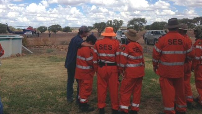 OUTBACK: The search for Sam Woodhead. Picture: RACQ NQ Rescue Helicopter