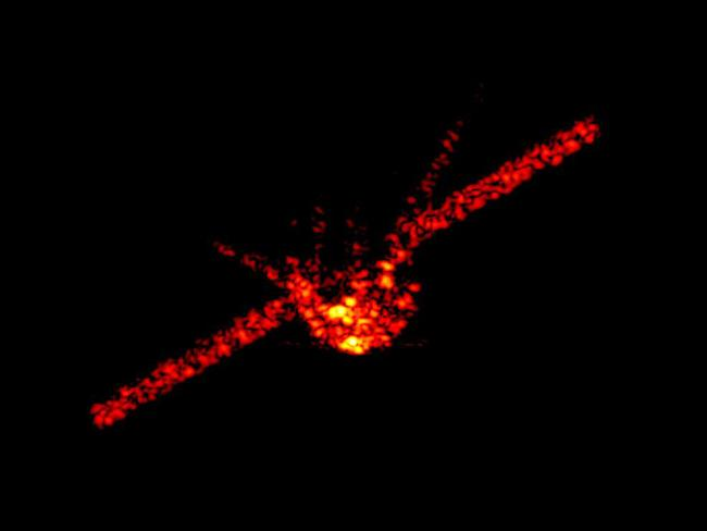 China's falling space station Tiangong-1 can be seen in this radar image. Picture: Fraunhofer Institute FHR via AP