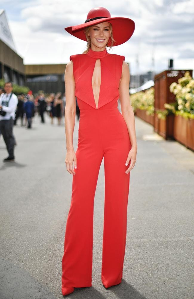 Jennifer Hawkins stole the show in bright red jumpsuit, 'other ...