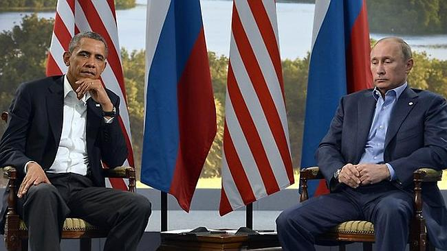 Not the best of friends: US President Obama and Russian President Putin. Picture: AP