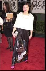 Bjork at the 2001 Golden Globes. While not as bad as her famous swan outfit, this one does come a close second. That Michael Jackson sequined skirt is just something else. Picture: Jeff Kravitz/FilmMagic/Getty Images