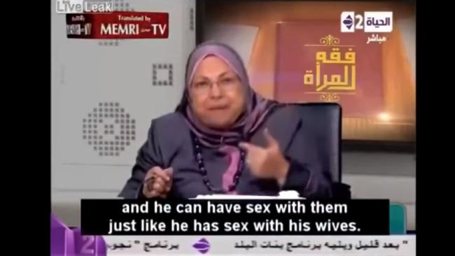 "Egyptian professor: ""He can have sex with them."""