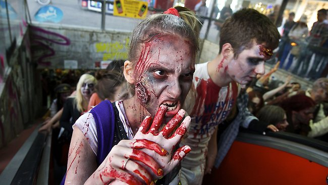 Serbia's zombies are pretty handy types. Picture: AP