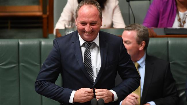 So, ready to run the country? Barnaby Joyce will be acting Prime Minister of Australia next week. Mick Tsikas / AAP