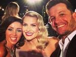 "Presenter Luke Jacobz posts, ""Just me and my (on screen) girls.. Great night! #tvweeklogies @danniiminogue @natbassingthwaighte"" Picture: Instagram"