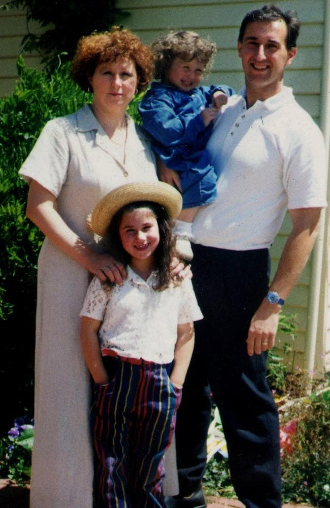 Family photo of Port Arthur massacre victims, Nanette, Alannah (left) and Madeline Mikac, with Walter Mikac.