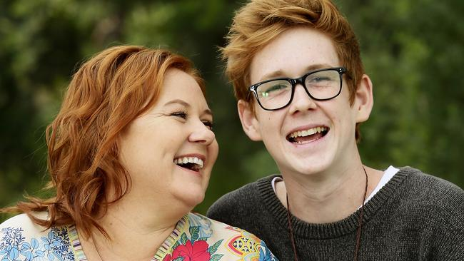Shared passion ... Marianne Howard says her son Benson Jack Anthony has always been a creative soul. Picture: John Appleyard