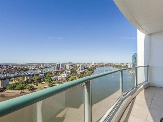 View from the balcony of 149/35 Howard St, Brisbane. Picture: CoreLogic.