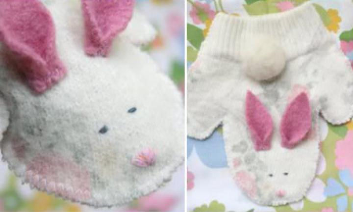 Cute bunny puppet