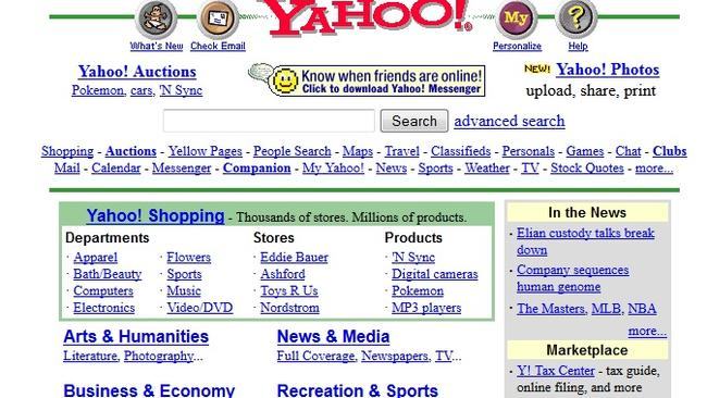 Hey, Yahoo, got any links? (April 7, 2000)