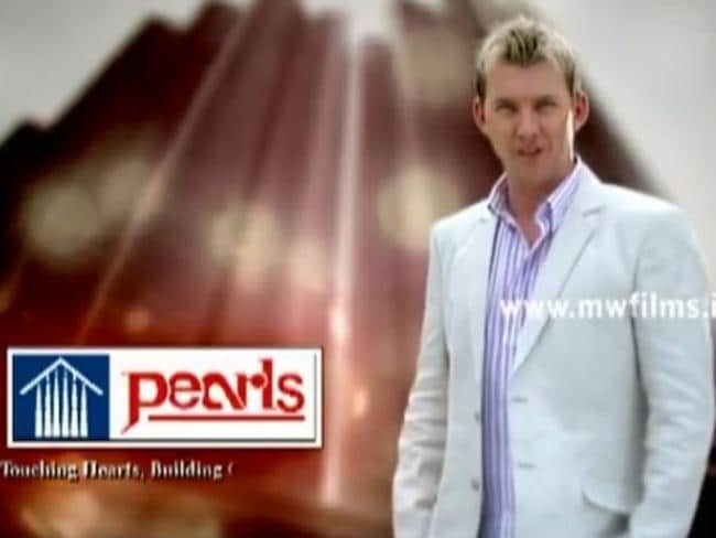 Lee appears in a 2010 television ad for Pearls Group, an alleged Ponzi scheme. Picture: YouTube