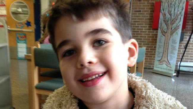 Six-year-old Noah Pozner was one of the victims of the Sandy Hook shooting in Newtown. Pic: AP.