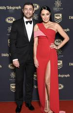 Terry Biviano and husband Anthony Minichiello at the 2017 Dally M Awards. Picture: Media Mode
