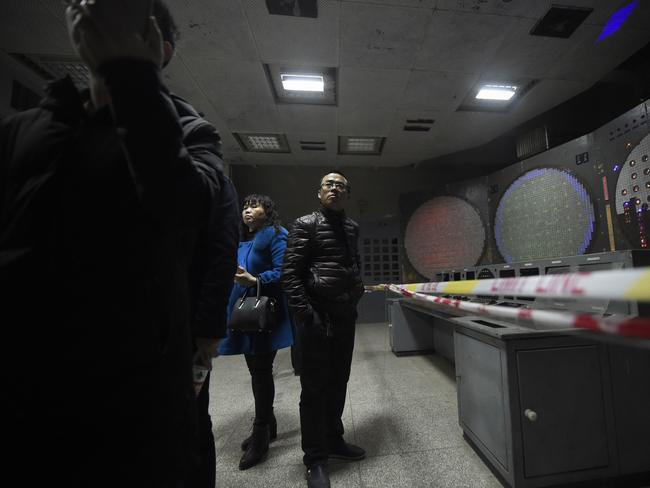 Tourists visiting the 816 Nuclear Military Engineering installation in February, 2017. Picture: AFP/Wang Zhao