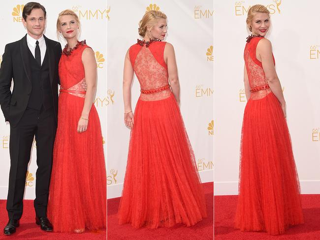 Claire Danes attends the 2014 Primetime Emmy Awards. Picture: Getty/AFP