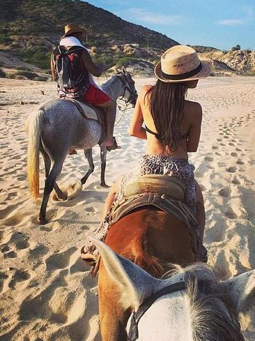 Glee's outspoken actor Naya Rivera shows off new husband Ryan Dorsey during a romantic getaway. Picture: Instagram