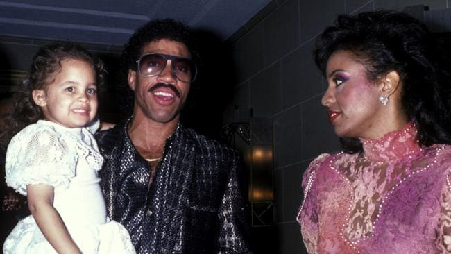 Nicole Richie, Lionel Richie and Brenda Harvey in 1985.
