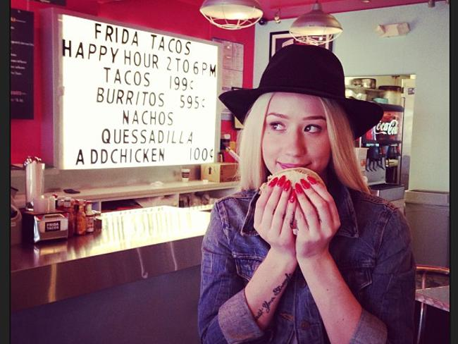 Hungry Iggy: Tacos? Check! This list is getting done! Picture: Instagram