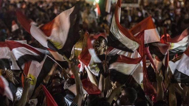 Thousands rally ... Egyptians celebrate in Cairo's Tahrir Square, the scene of the sex attack.
