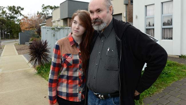 Donavan Cresdee with daughter Emma lives close to the contamination scare.