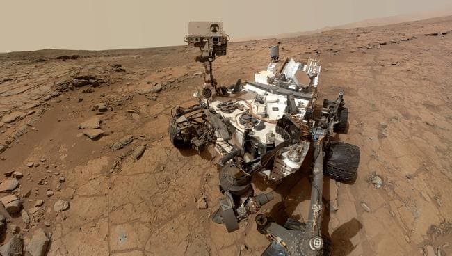 The design could look similar to NASA's Curiosity rover but the purpose would be to extract water from the planet. Picture: NASA/AP