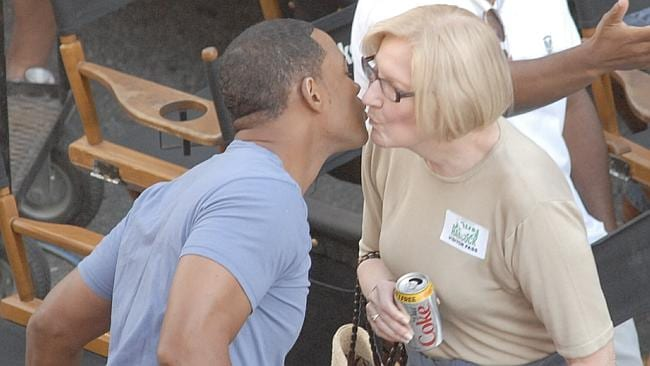 Publicist to the stars Pat Kingsley on set with Will Smith. Picture: Splash