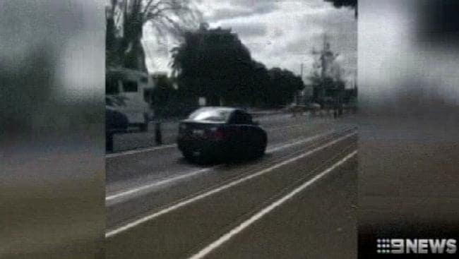 A photograph from 9 News of the chase.