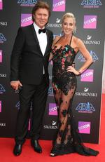 Richard Wilkins and Virginia Burmeister pictured arriving at the 2017 ARIA Awards held at The Star in Pyrmont in Sydney. Picture: Richard Dobson