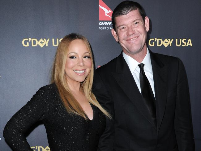James Packer, pictured with his bride-to-be Mariah Carey, supports a range of community sectors. Picture: Richard Shotwell/Invision/AP