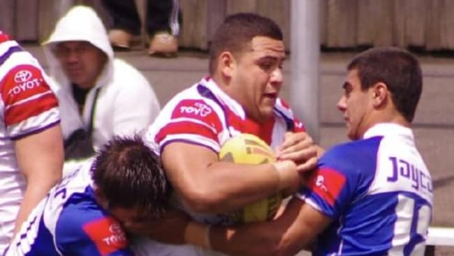 Tai Tuivasa in action for Sydney Roosters.
