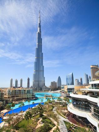The Burj Khalifa, Dubai, is currently the world's tallest tower. Picture: Supplied