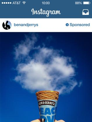 Ben & Jerry's ice cream was one of the first Instagram advertisers.