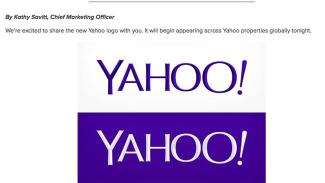 Yahoo's new logo unveiled this week.