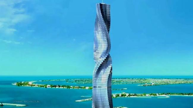 Dubai hotel with rotating floors a new view every minute for Unusual hotels in dubai