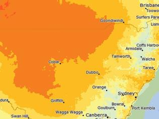 It's going to be a hot day across NSW today. Picture: Bureau of Meteorology