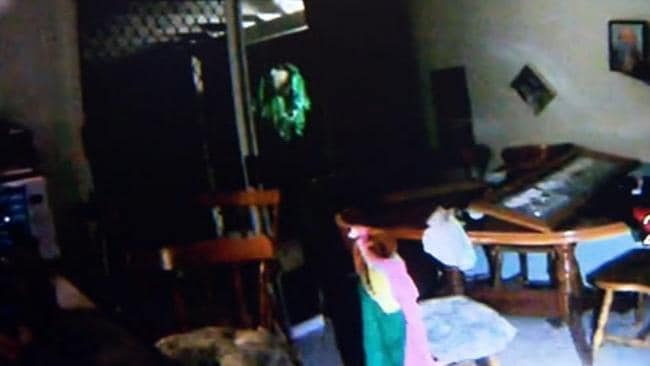 The house was trashed during the party. Picture: Channel Nine