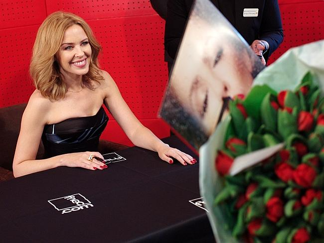 Just kiss Kylie once on her birthday. That's amusing if you know the name of her new album. (AP Photo/Thibault Camus)